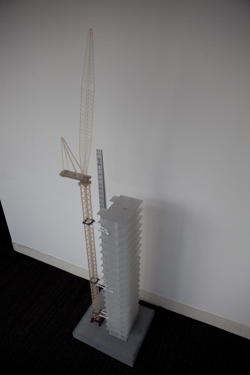 3D printed crane model